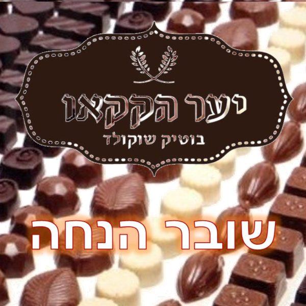 """40% או 400 ש""""ח הנחה (ההנחה הקטנה יותר) על כל רכישה ביער הקקאו - שוקולד בוטיק ישראלי איכותי בעבודת יד."""